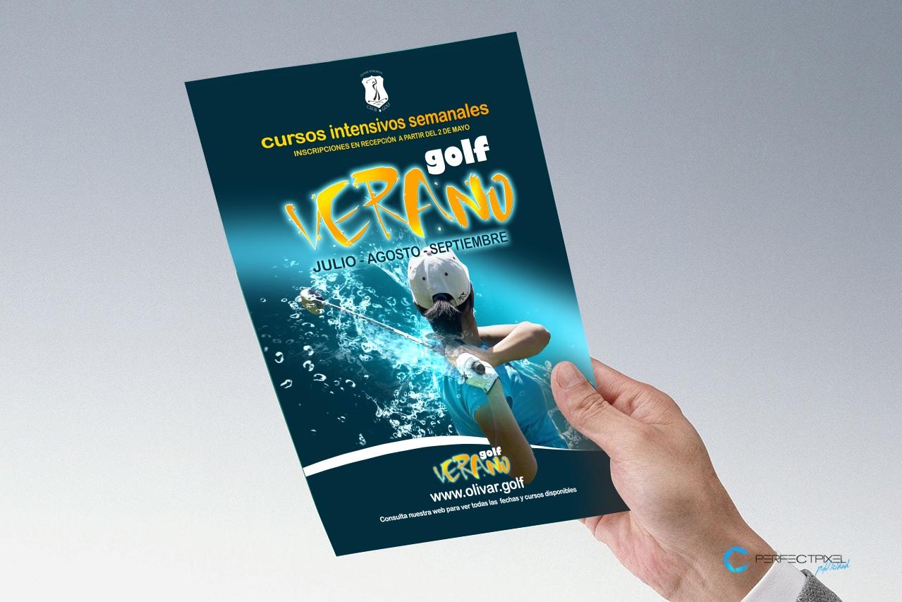 Diseño Flyers campaña cursos intensivos Golf Olivar