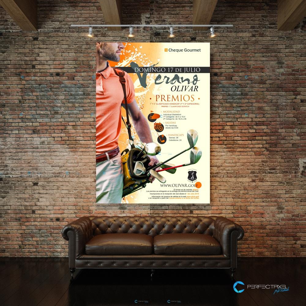 Cartel publicitario club de golf en Madrid - Olivar de la Hinojosa