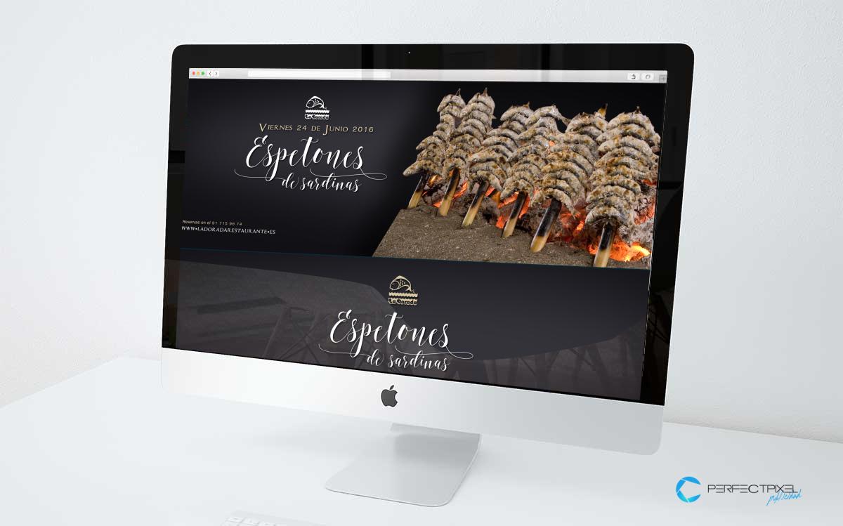 Promoción para restaurante en Madrid - Especial Espetones de Sardinas La Dorada