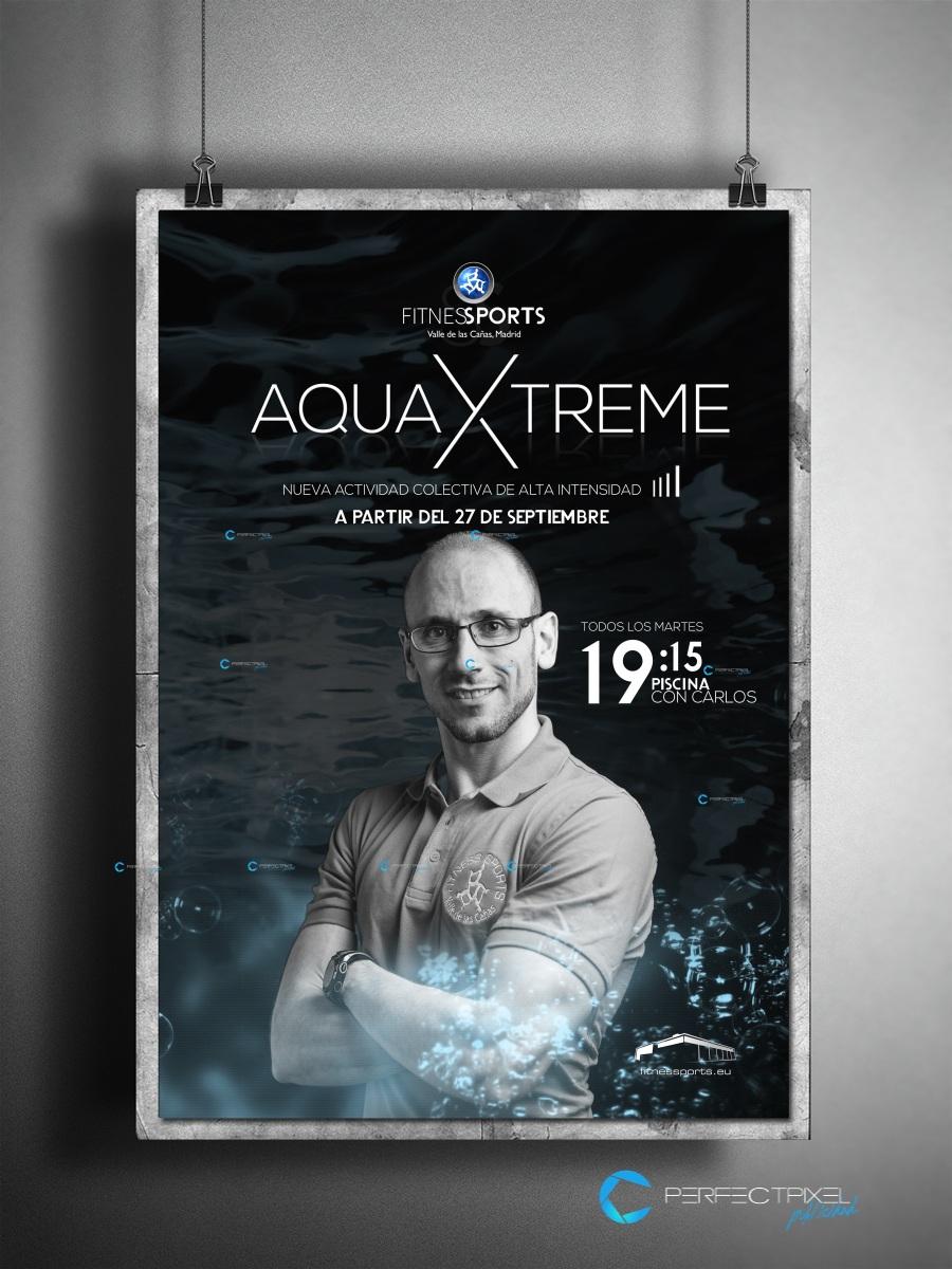 Cartel publicitario para AquaXtreme Actividad acuática de alta intensidad
