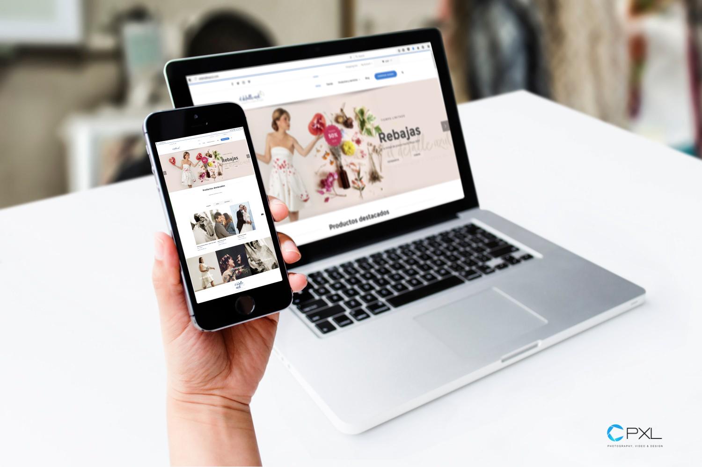Diseño comercio electrónico para el detalle azul - Fotografía y vídeos de boda