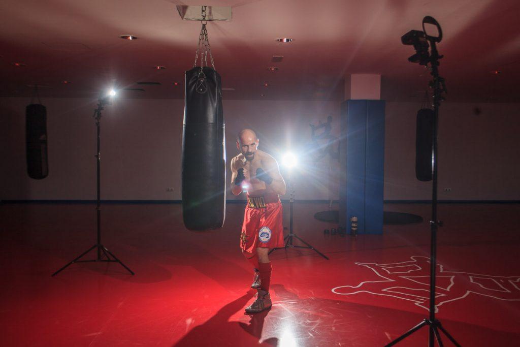 Esquema de iluminación de Fotografía Deportiva de boxeo con Silvio Olteanu