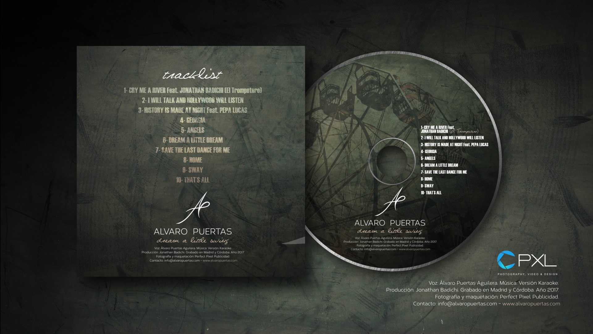 Álvaro Puertas - dream a little swing album CD design