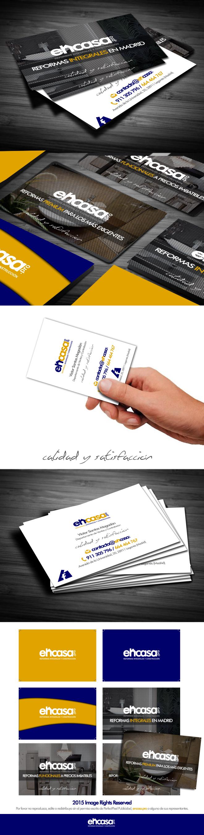 Diseño de tarjetas de visita para empresa de reformas