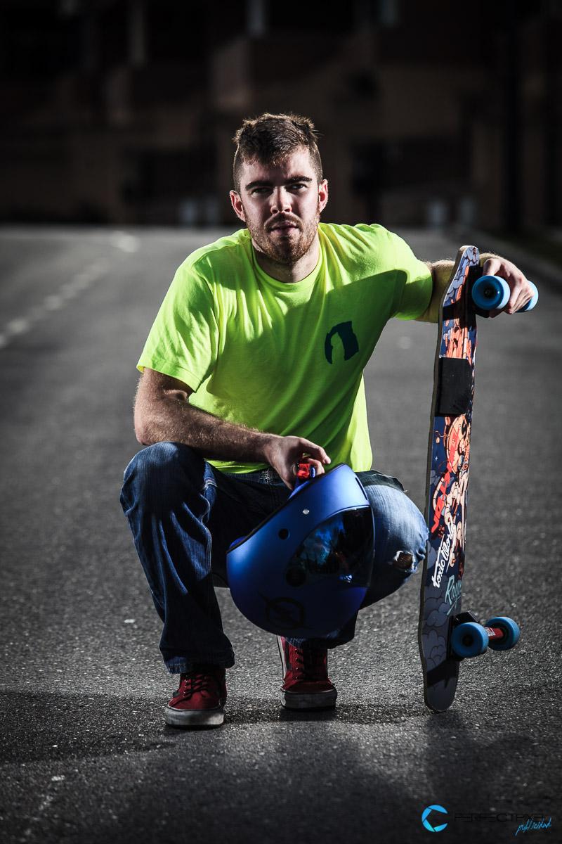Retrato deportivo, Fotografía Deportiva, Longboard, Skate