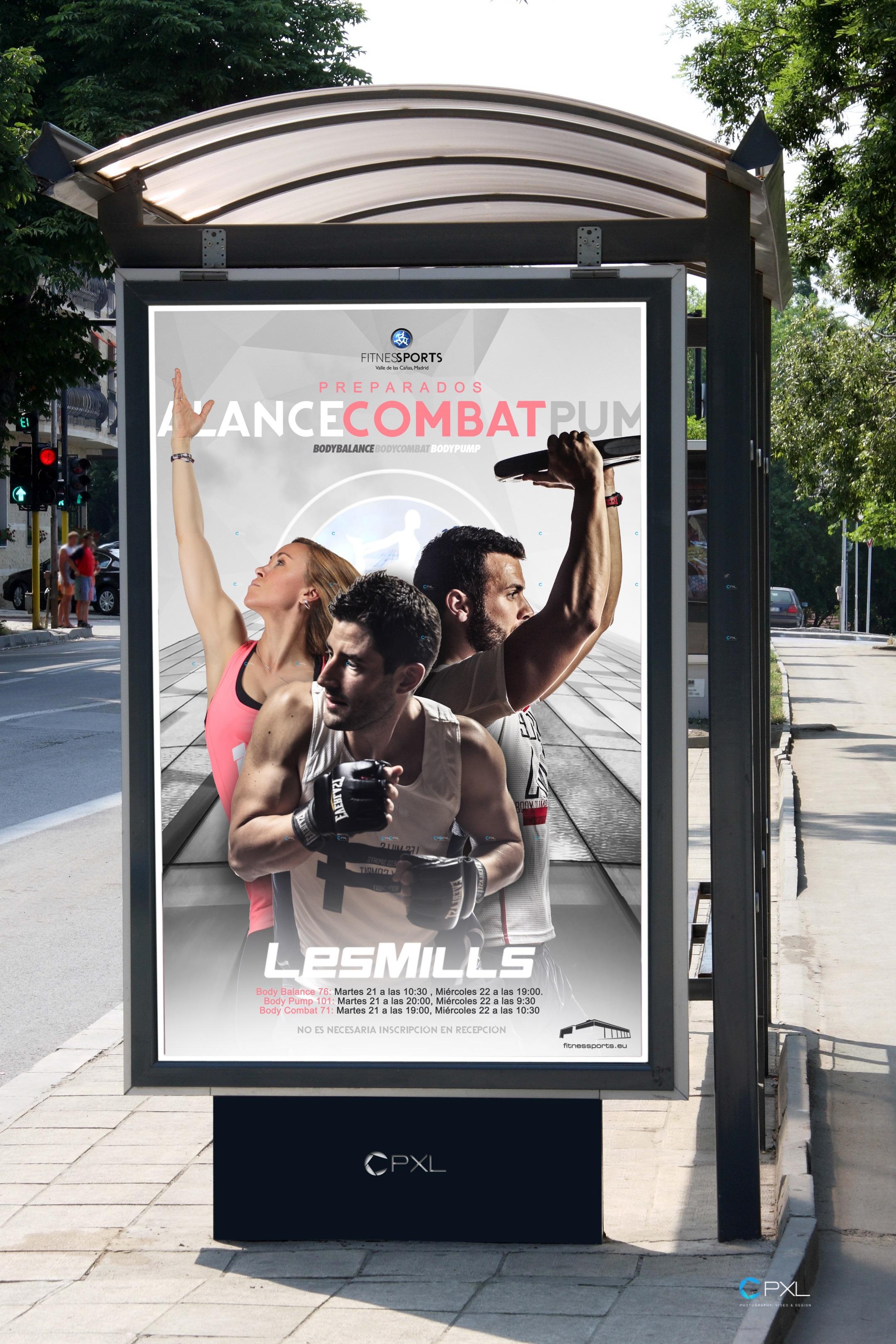 Diseño Cartelería Body Pump 101 Body Combat 71 Body Balance 76 Les Mills FSVC