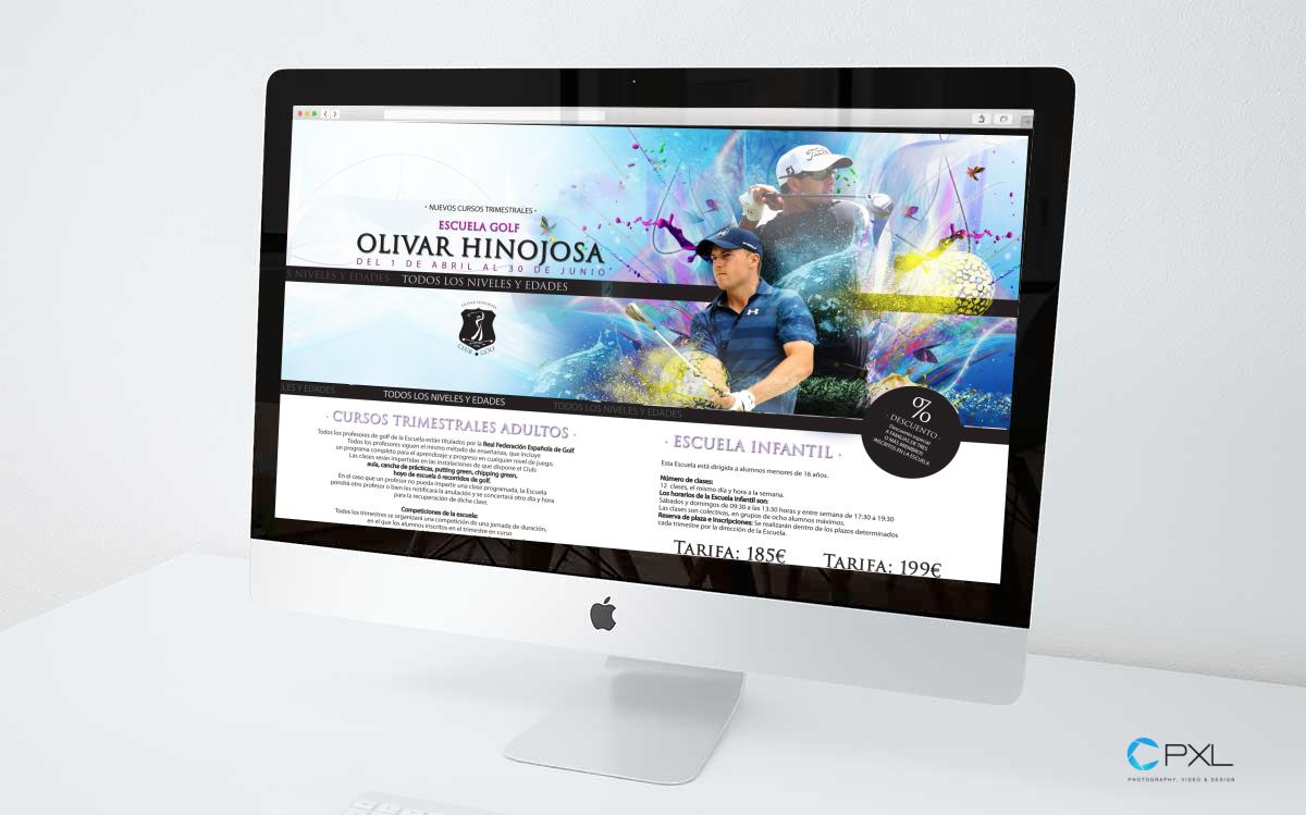 Campaña para cursos trimestrales escuela de golf (Olivar de la Hinojosa - Campo de las Naciones)