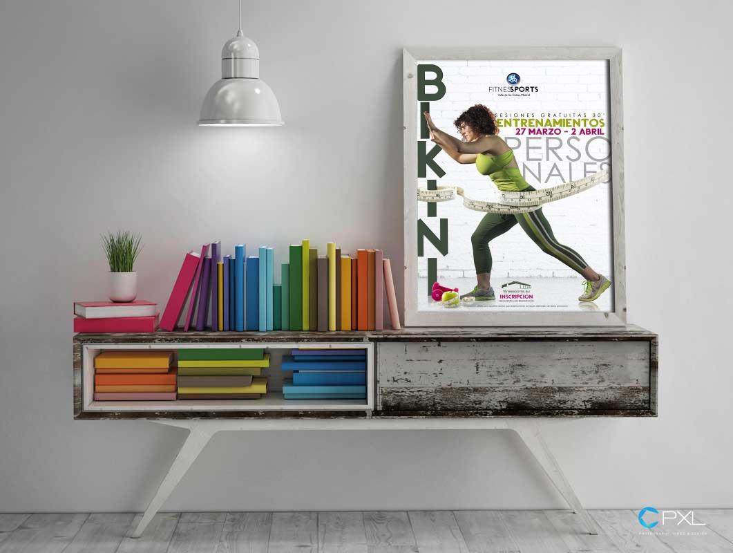 Diseño campaña Operación BIKINI para centro deportivo