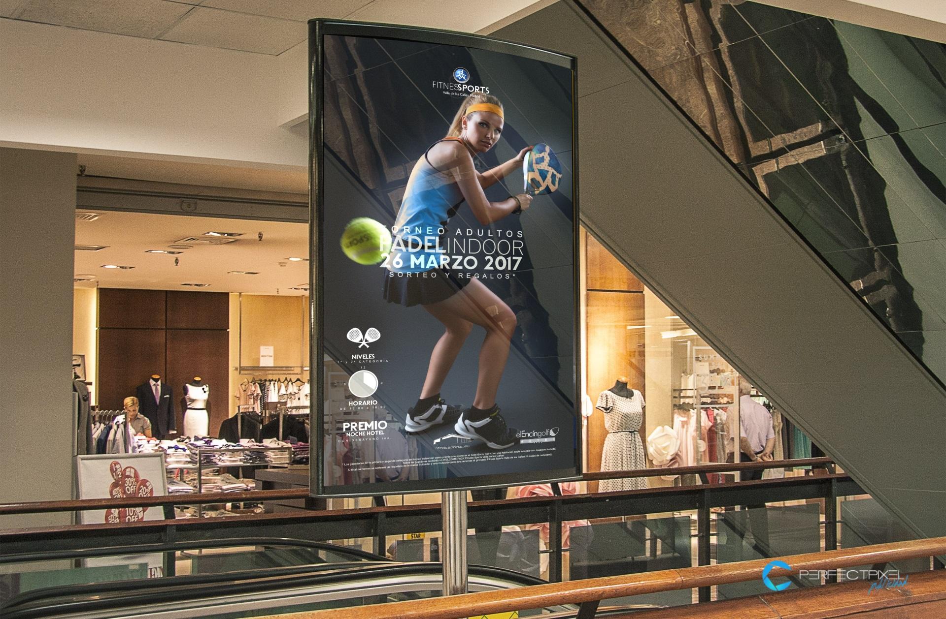 Diseño Cartelería torneo de pádel indoor - Fitness Sports Valle las Cañas