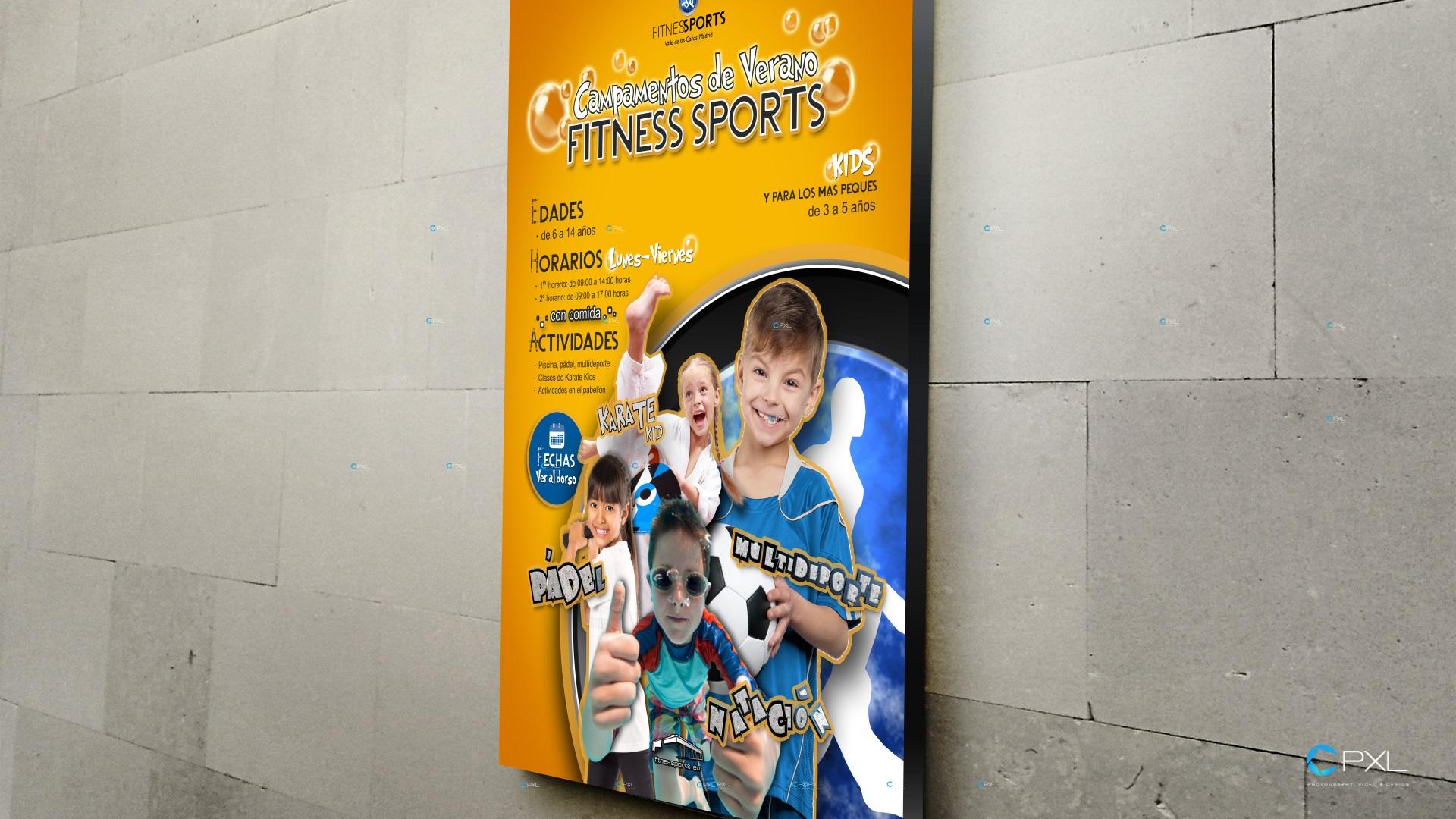 Campaña para campamentos de verano en Madrid (Fitness Sports Valle de las Cañas)
