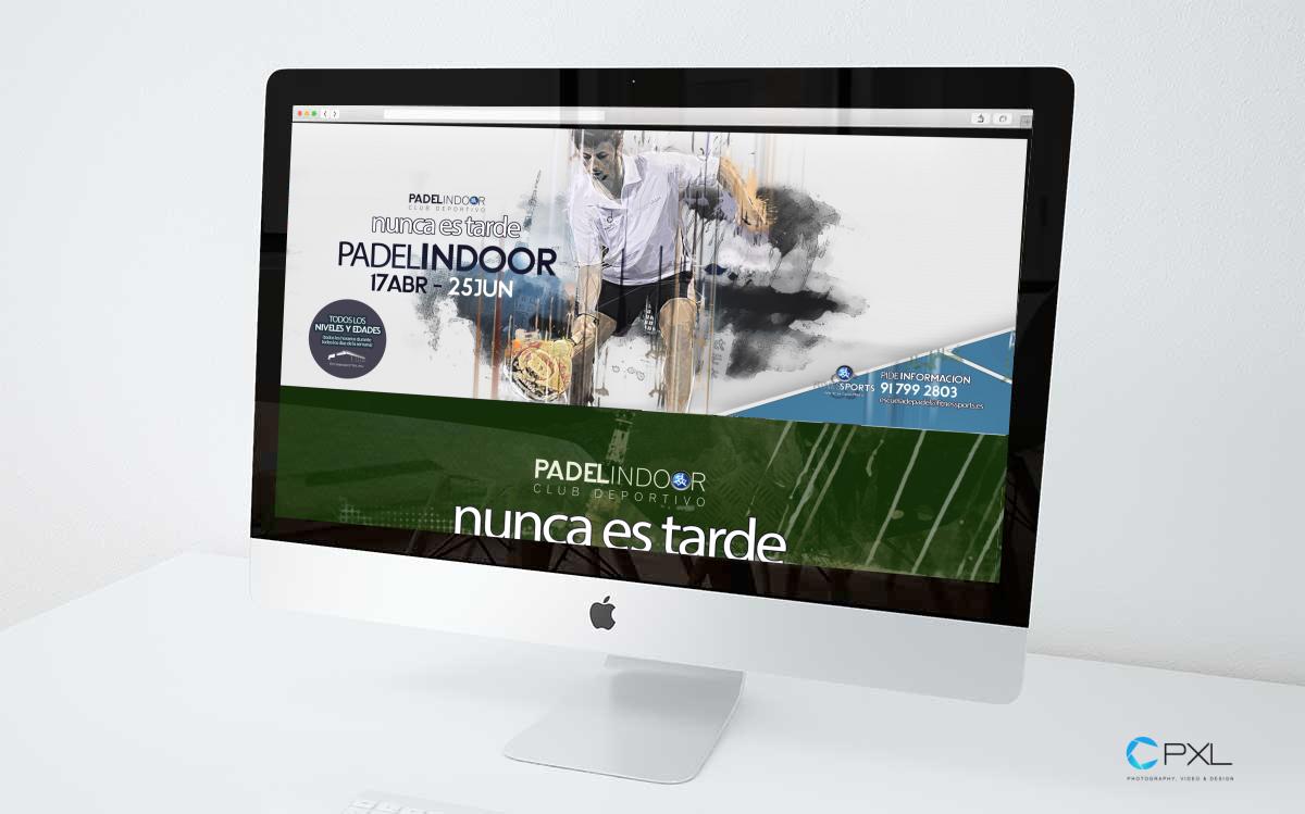 Diseño campaña para escuela de pádel en Madrid