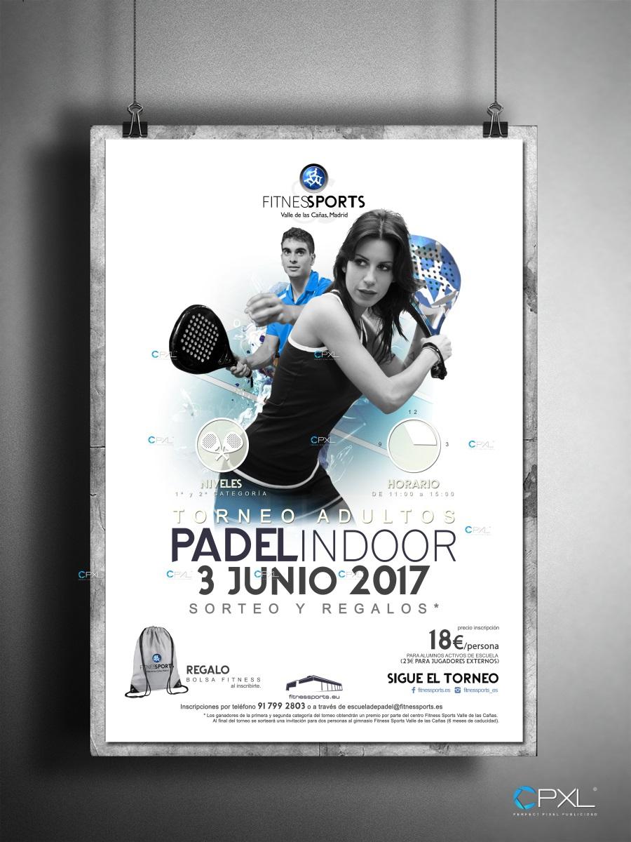 Cartel publicitario para torneo de pádel (Fitness Sports Valle de las Cañas)