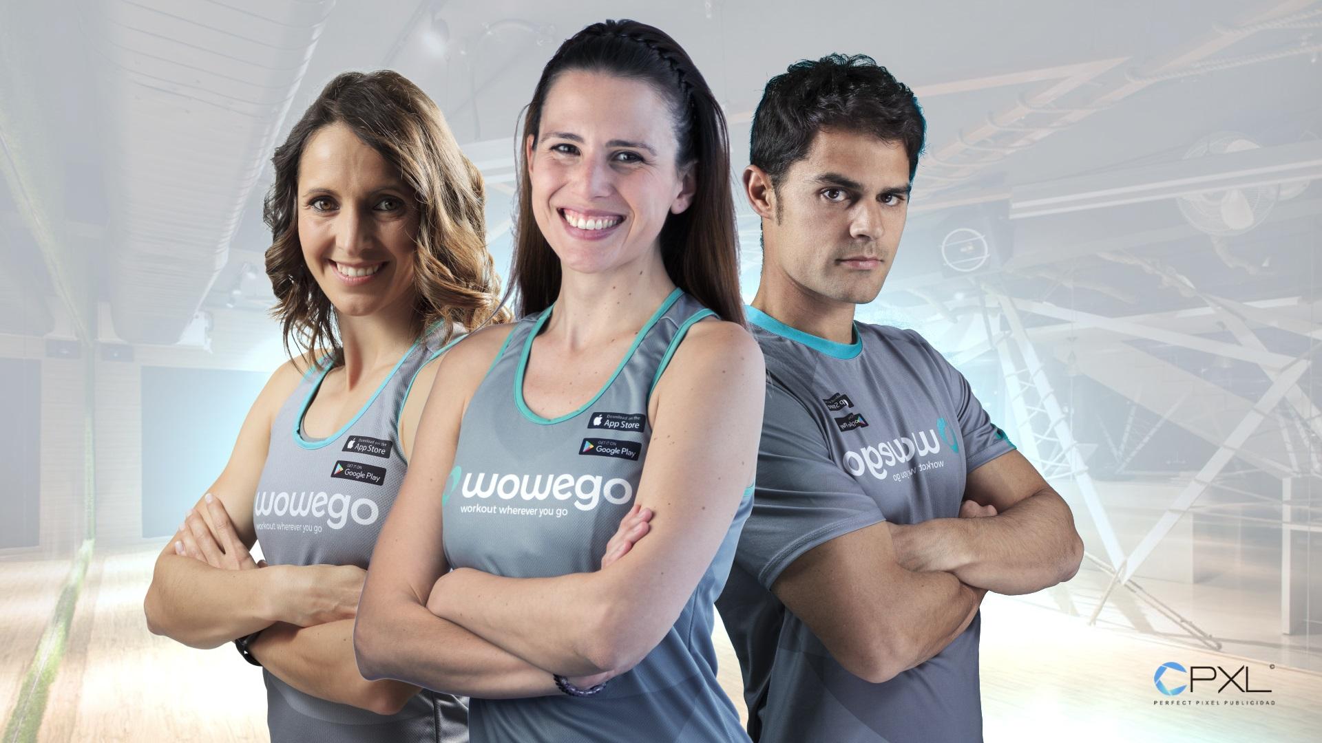 Fotografía empleados para aplicación de fitness Wowego (Workout wherever you go)