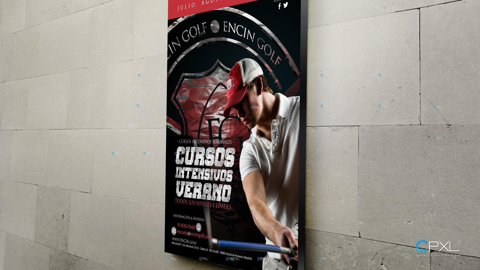 Campaña publicitaria para cursos intensivos de golf en Madrid (Encín Golf)