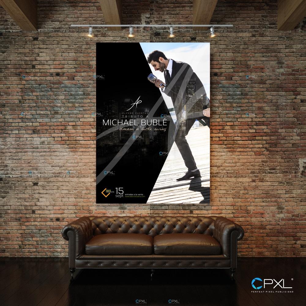 Diseño cartelería profesional para concierto - Tributo a Michael Bublé (Gran Teatro Bankia Príncipe Pío)