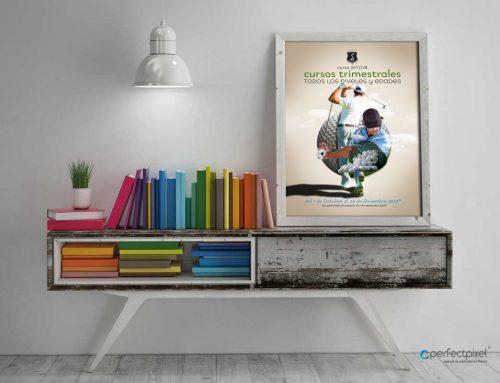 Cartelería profesional para escuela de golf en Madrid (Olivar de la Hinojosa)