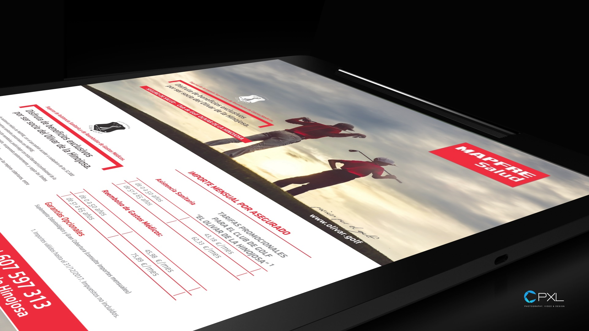Diseño campaña seguros MAPFRE (Golf Olivar de la Hinojosa)