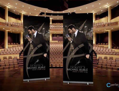 Diseño de roll up para concierto en Madrid (Álvaro Puertas – tributo a Michael Bublé)