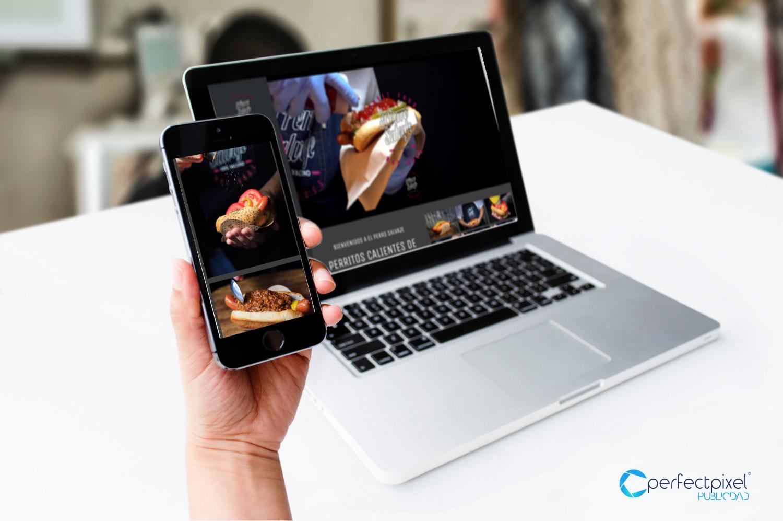 Diseño página web El Perro Salvaje (Hot Dogs)