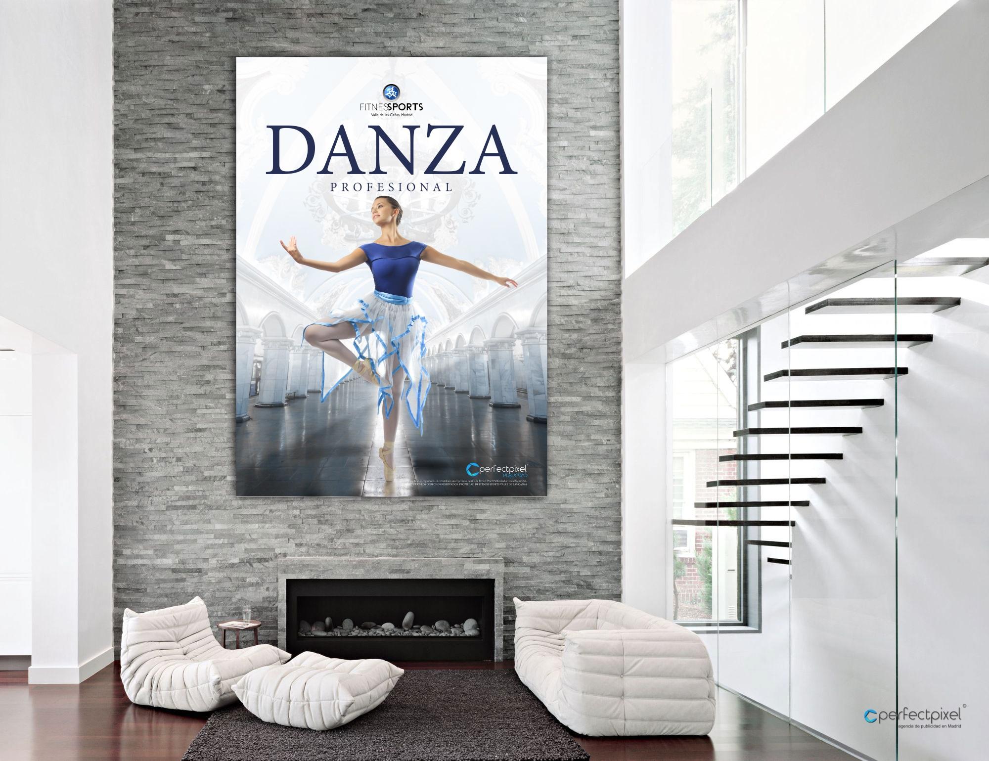 Cartelería profesional para escuela de baile profesional en Madrid