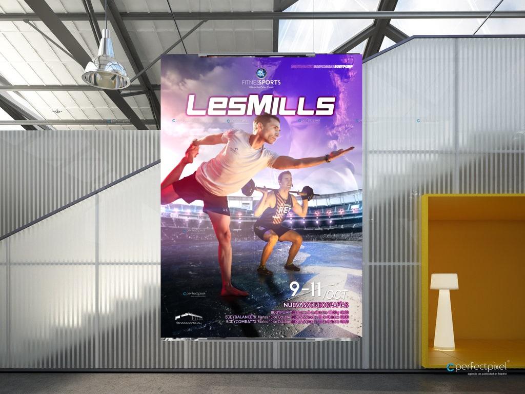 Cartelería profesional y fotografía deportiva para presentaciones Les Mills (FSVC)