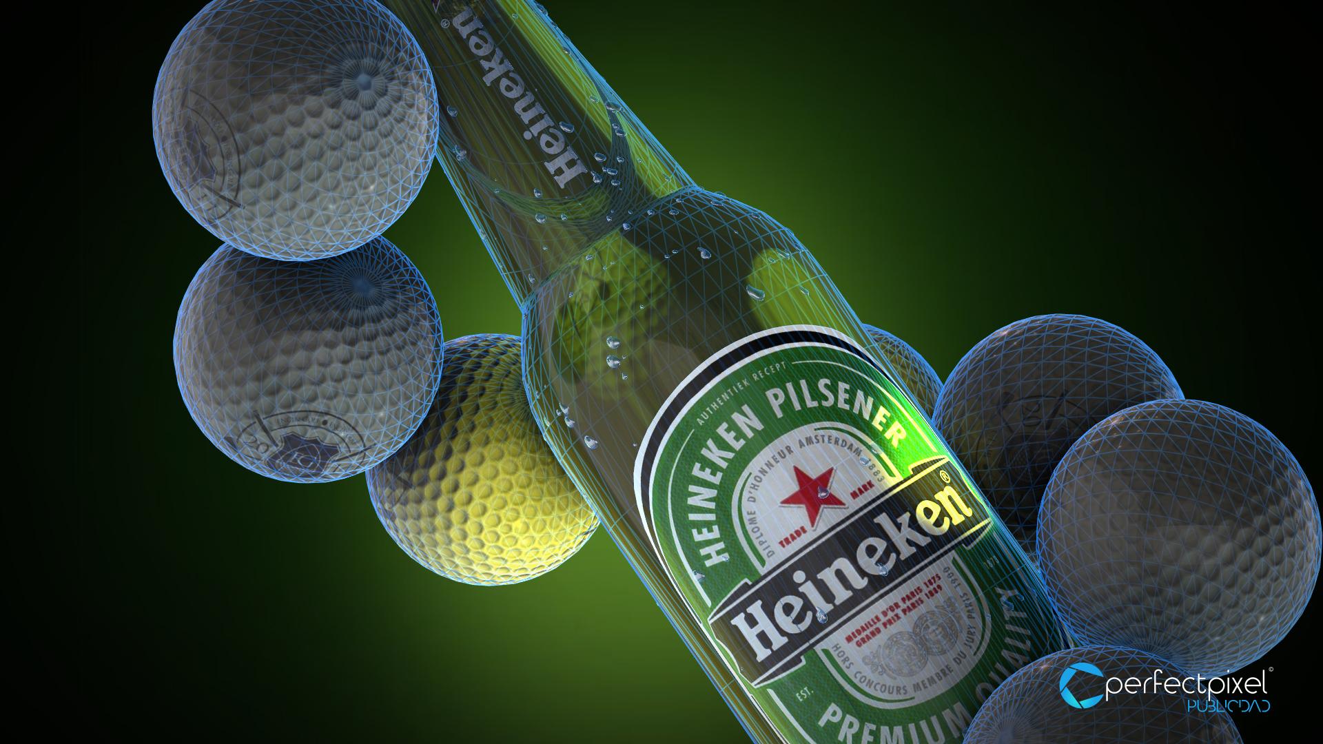 Video animación 3D para torneo Enjoy GOLF Heineken