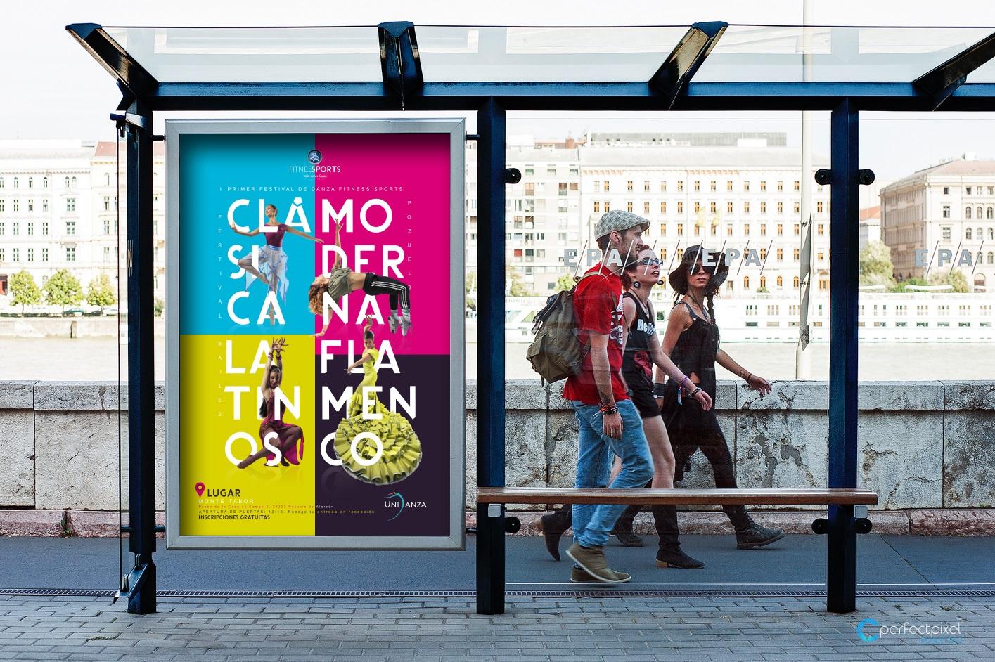 Cartelería profesional para festival de danza en Madrid