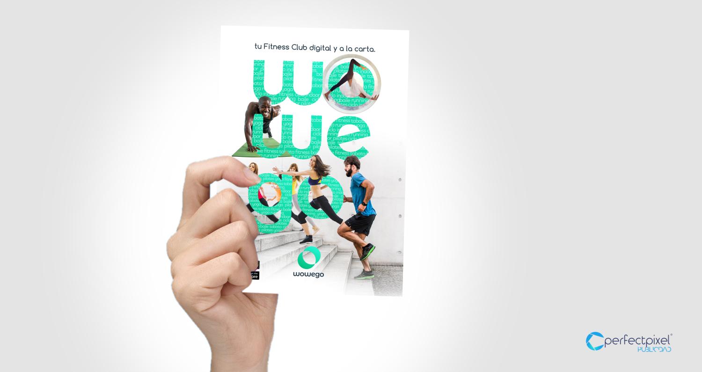 Diseño Flyers campaña FINISHER para fitness app Wowego