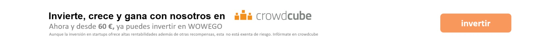 Invertir CrowdCube Wowego fitness app