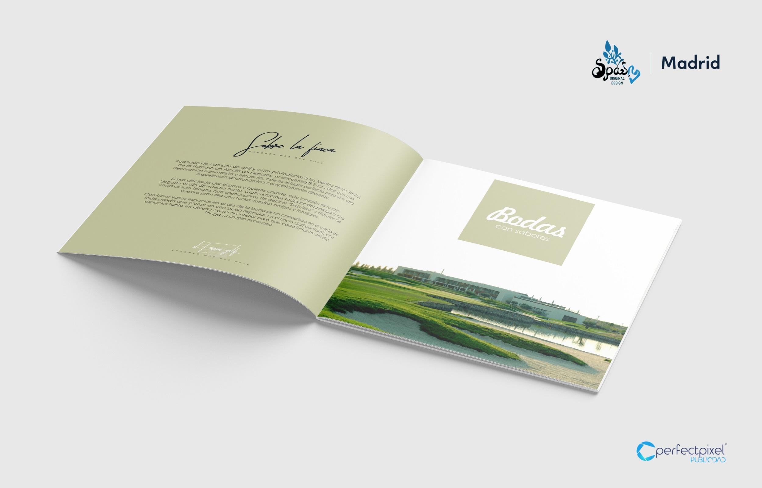 Diseño de dossier restauración y eventos - Sabores Más que Golf