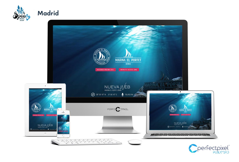 Diseño página web Marina el Portet, Dénia