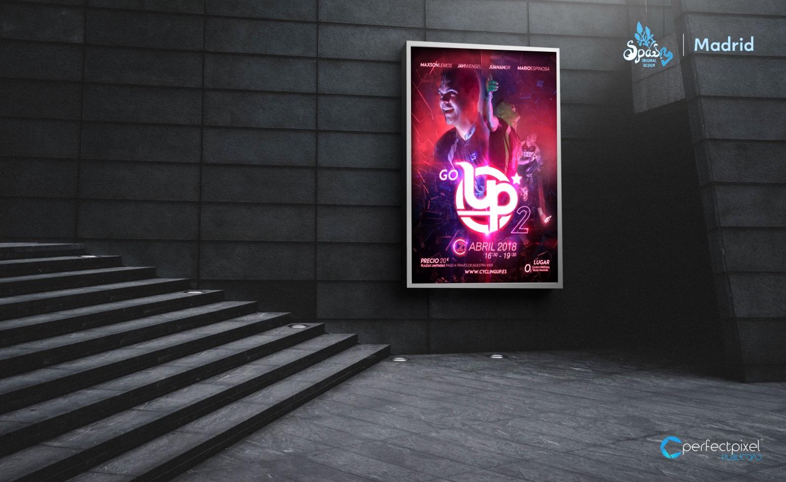 Cartelería profesional para evento - GO Up 3