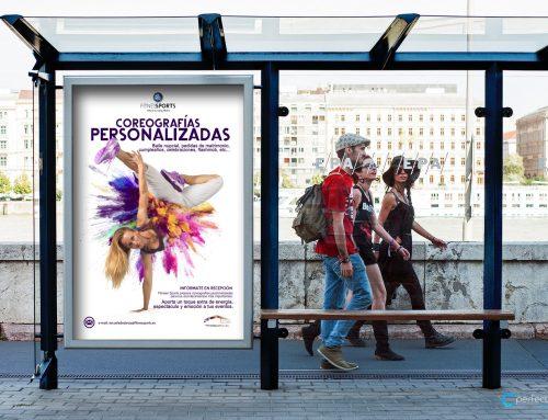 Cartelería profesional para escuela de baile en Madrid