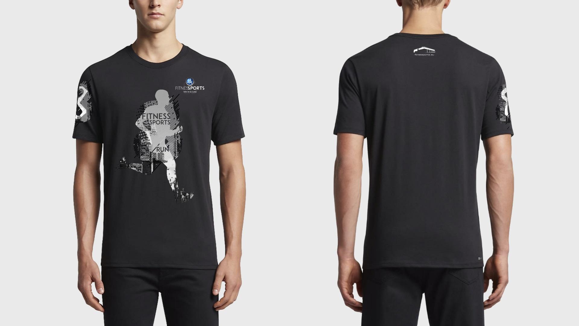 Disñeo de camisetas Fitness SPorts