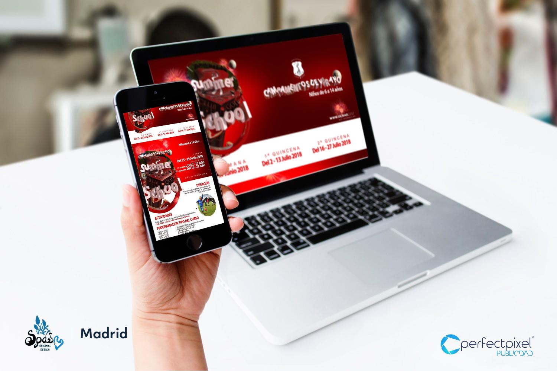 Campaña para campamentos de verano en Madrid (club de golf)
