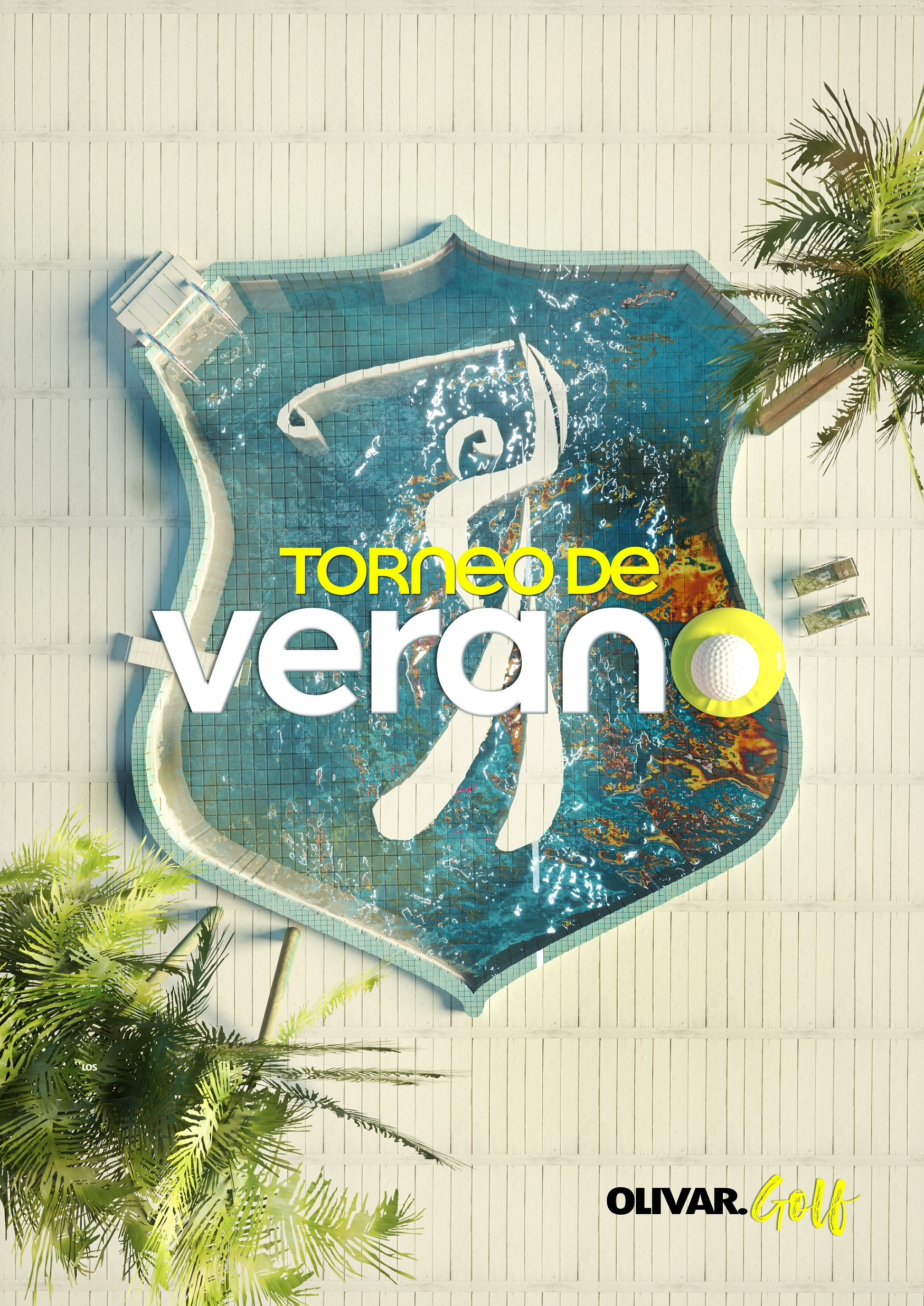 Torneo de verano anuncio Summer advertisement golf