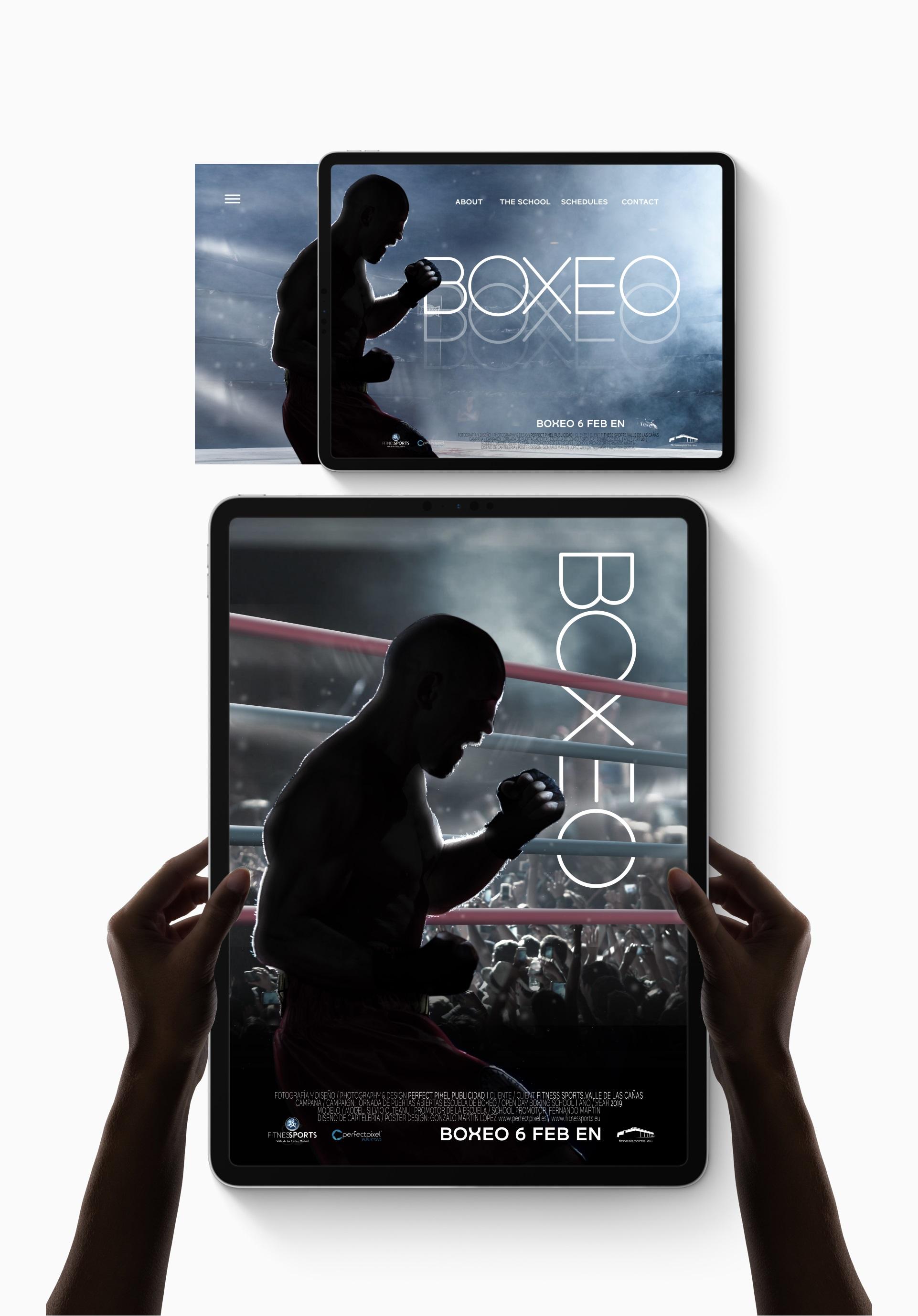 CArteleria de Pelicula Perfect Pixel Publicidad Film Poster Boxing